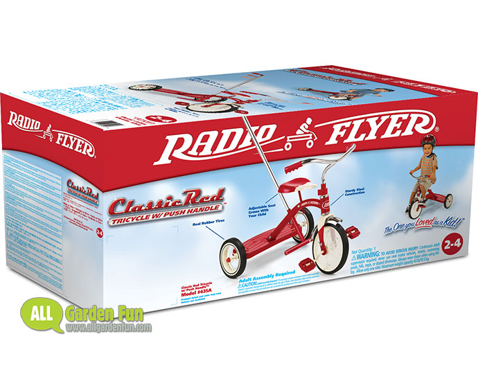 Radio Flyer Classic Red Tricycle 10in With Handle